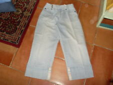 "PANTALON fille "" ACTIVEWEAR "", T12A, jean bleu ciel, jambes 3/4, taille réglable"