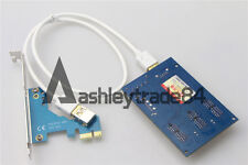 PCI-e Express 1X to 3 Port 1X Switch Multiplier HUB Riser Card+USB cable