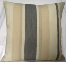 "2 X scatter Cushion Covers Laura Ashley Awning Stripe Charcoal 16"" X 16"""
