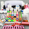 9W UV Gel Curing Lamp Dryer Nail Art Acrylic Liquid Powder Salon Manicure Set