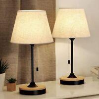 Set of 2 Table Lamp Desk Lamp for Bedroom Nightstand Beside Lamp Living Room