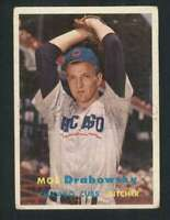 1957 Topps #84 Moe Drabowsky VG/VGEX RC Rookie Cubs 80471