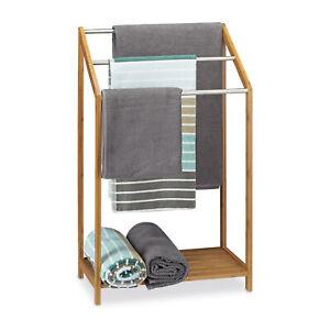 Handtuchhalter Bambus Handtuchständer freistehend Standhandtuchhalter dreiarmig