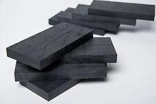 Black bog oak (morta, wood) blanks for knife handle cover plates1270-5460