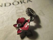 NEW Pandora Sterling Silver S 925 ALE Enamel Orchid Purple Pink # 791554EN69