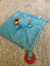 Tesco Carousel Blue Elephant Comforter Soother Rattle & Teething Ring Unused