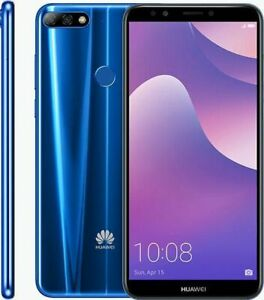 Huawei Y7 2018 16GB 13MP Camera Tesco Mobile Locked Android Mobile Phone - Blue