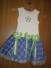 Rare Editions Girls Size 4 Purple Dress New With Tags