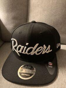 RAIDERS NEW ERA SNAPBACK HAT CAP NFL 9FIFTY 100% WOOL EAZY E VINTAGE