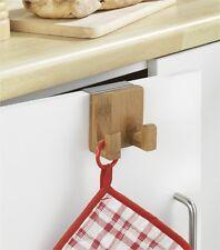 Türhaken Kleiderhaken Bambus Handtuchhalter Türgarderobe für Türen Bad Küche etc