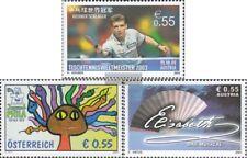 Österreich 2446,2447,2448 (kompl.Ausg.) gestempelt 2003 Tischtennis, Jugend, Eli