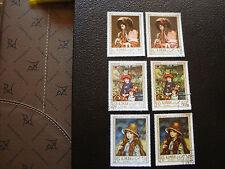 AJMAN - 6 timbres aerien obl (teinte clair et fonce) (A18) stamp