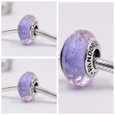 Pandora Murano Glass Charm Purple Shimmer bead S925 ALE 791651 New