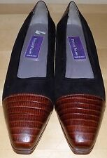 Vintage PHYLLIS POLAND Women's Low Pump /Shoes 'BLACK /ALLIGATOR' size 9 AA -EUC