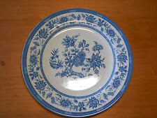 """Churchill England INDIAN TREE BLUE Set of 3 Dinner Plates 10 3/8"""" heavy weight"""