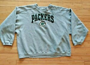 Vintage Green Bay Packers Starter Sweatshirt Crewneck 5XL Gray Spell Out NFL