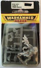 40k oop Blister Rare Metal Space Marine Wolf Guard Sergeant Power Armor NIB