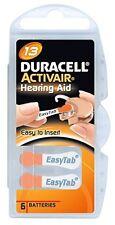 Lot de piles boutons auditives Duracell, appareils auditifs 10/13/312/675