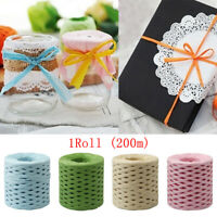 DIY Paper Rope Gift Wrapping String Raffia Ribbon Twine Cord Party BirthdayDecor