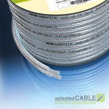 HICON Ambience 2 x 4,0mm² Lautsprecher-Kabel Silber Finish | Meterware | HIA-240