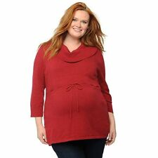NWT Women's Maternity Plus Size OhBaby by Motherhood Cowlneck Tunic Sweater 2X