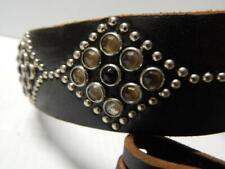 Sz:34 Vintage Nos Studded Tooled Leather Belt Western Biker Rockabilly Punk