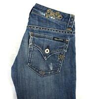 Miss Me Women's Medium Wash Boot Cut Denim Jeans w Flap Pockets 25 x 30 EUC
