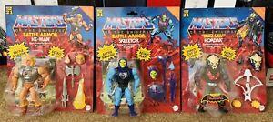 Mattel 2021 Masters of the Universe Origins He-Man Skeletor Hordak Delux Figure