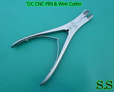 """3 PIN & WIRE Cutter 8"""" Cvd T/C Jaw Orthopedic Surgical"""