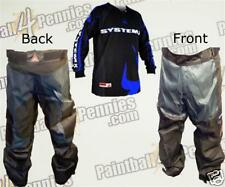 PAINTBALL PRO PANTS  AND JERSEY COMBO  (BLUE) SYSTEM X