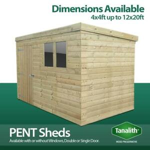 Total Sheds Pressure Treated Tanalised Pent Shed Top Quality Tongue and Groove