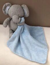 M&S With Love Blue Grey Elephant Comforter Blankie Soft Toy Baby Boy Snuggle