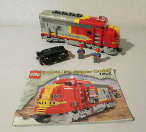 ( GO ) LEGO 10020 Santa Fe Super Chief Eisenbahn 9 Volt Mit BA 100% KOMPLETT