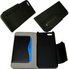 Luxury Leather Wallet Cover Pouch Case Card Slot For iPhone 5 5G 5S 5C SE Black