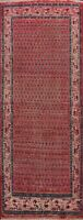 Vintage Paisley Hand-knotted Botemir Traditional Runner Rug Oriental Carpet 3x9
