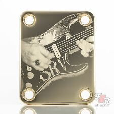 Engraved Guitar Neck Joint Heel Plate (Standard 4 Bolt) GOLD #2101