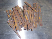 """VINTAGE ANTIQUE SQUARE CUT NAILS 71 NEVER USED ROUGHLY .10 oz  2"""""""