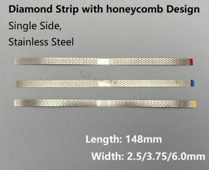 Dental Polish Strip Single Side Diamond Sanding Surface with Hole SawTeeth 10Pcs
