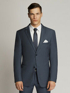 SCUZZATTI Hudson Oxford Weave Micro Suit Navy