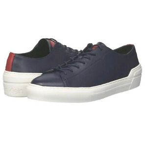 Calvin Klein Mens Octavian Midnight Blue Leather Low Top Sneakers Mens 12 M