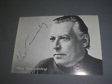 Hans Canninenberg signed signiert autograph Autogramm auf Autogrammkarte