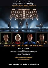 """ABBA VOYAGE 2022 Tour poster huge A1 23x33"""" custom concert poster FREEP&P London"""