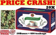 20 BOXES TRIBULUS TERRESTRIS TEA, Libido&Testosterone BOOSTER,Bulgarian 400 bags