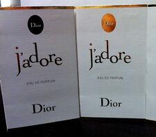 2 Christian Dior J'adore Eau de Parfum Samples - 1ml/ 0.03fl oz NEW