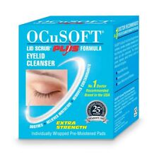 Ocusoft Plus Box 30 Eyelid Cleanser Scrub wipes make up remover Scope