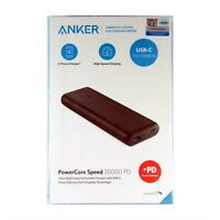 ANKER BATTERY POWER BANK POWERCORE SPEED 20000 PD POWER DELIVERY BLACK A1275Z11