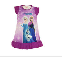 New-Fashion-Frozen-Princess-Elsa-Anna-Girls Kids-Pyjama-Nightie-Dress Xmas gift*