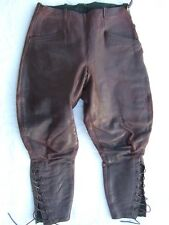 WW2 GERMAN LUFTWAFFE leather PILOT TROUSERS BREECHES 1938-1940 Battle of Britain