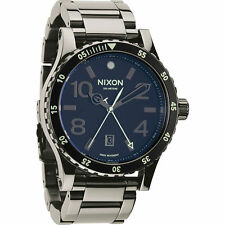 New Nixon Diplomat SS Black Dial Black Ion Stainless Steel Mens Watch A2771885
