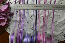Satin & Metallic PURPLES Ribbons 3,6,7&10mm Wide 3&5 Mtrs MultiList BW